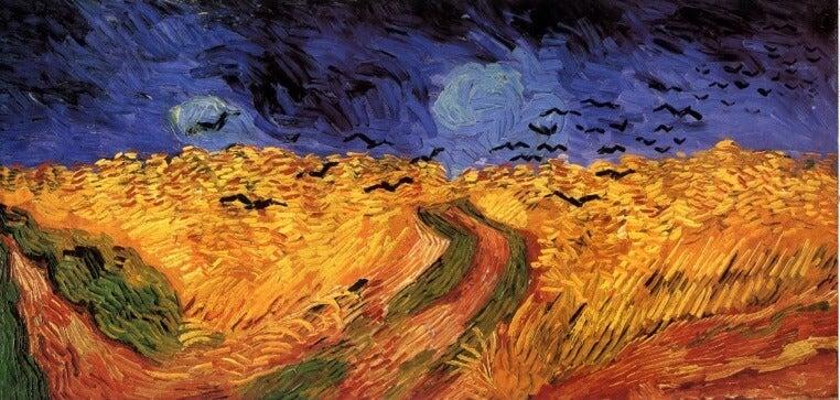 Cuervos sobre el trigal de Van Gogh