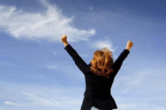 Mujer con éxito