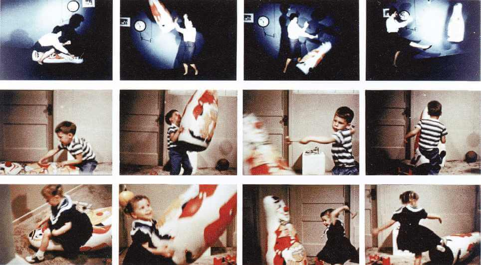 Experimento de Albert Bandura simbolizando el aprendizaje social