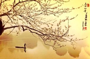 hombre en barca simbolizando el haiku
