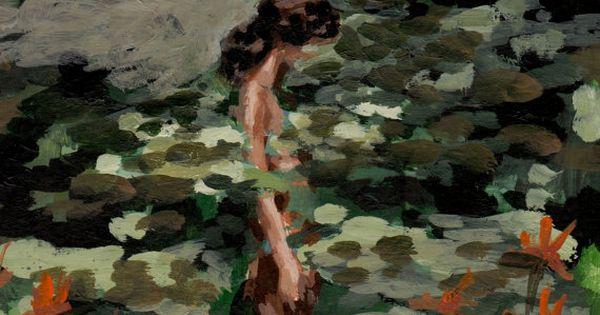 Mujer entre arbustos