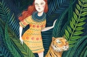 Niña con tigre