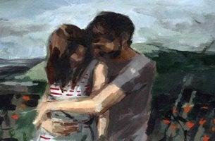 pareja abrazada que se preocupa por cómo estás