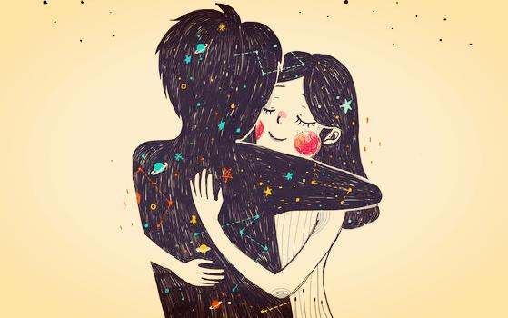 pareja abrazada disfrutando de su amor