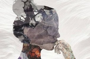 Perfil de una mujer con dudas con trastorno obsesivo-compulsivo