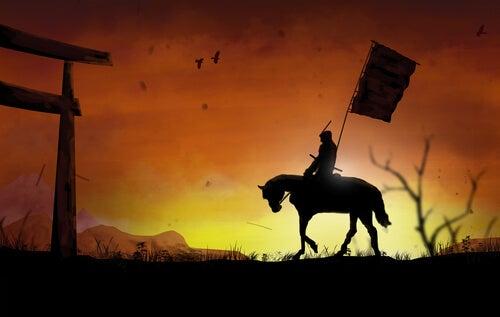 Samurái con caballo