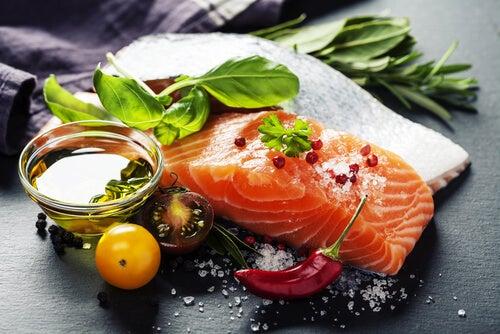 Aceite y salmón