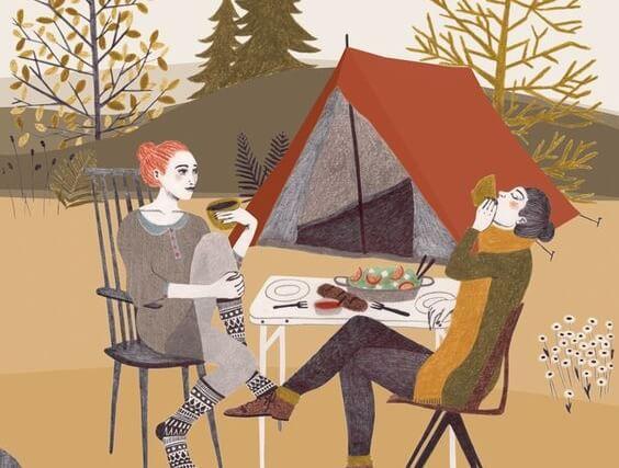 amigas de picnic