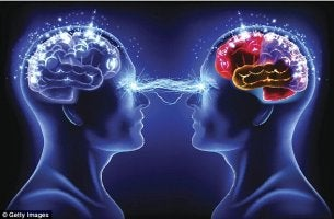 cerebros conectados por la telepatía