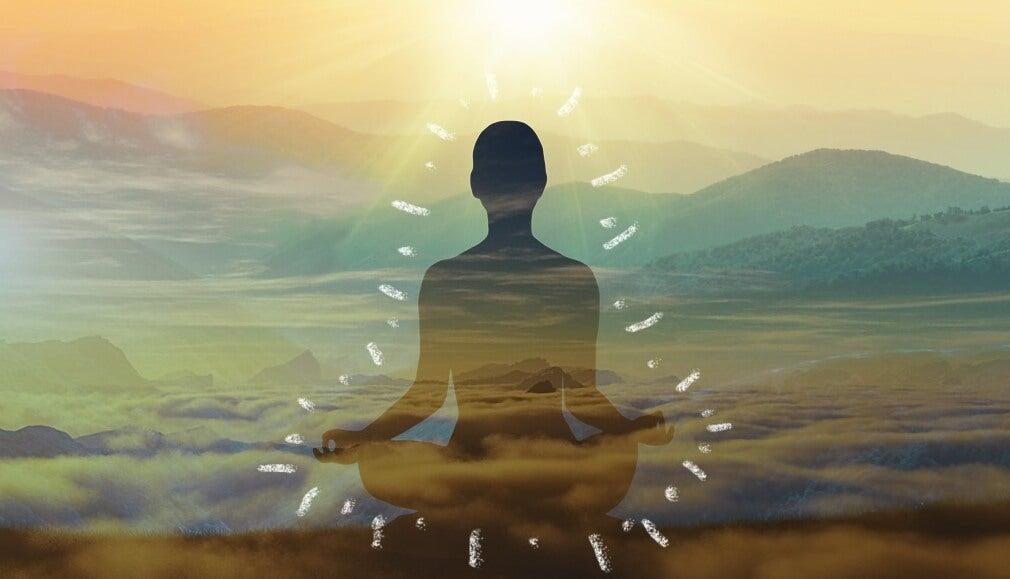 Figura meditando