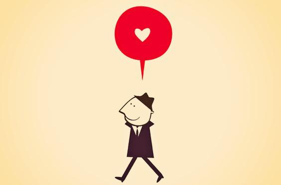 hombre pensando en el amor