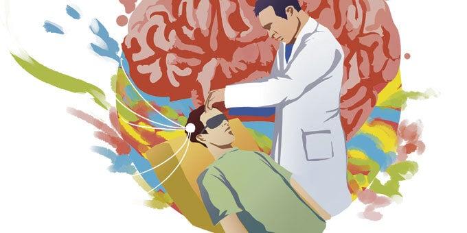 investigador llevando a cabo experimento para estudiar la telepatía