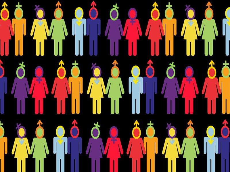 Monigotes con diferentes identidades