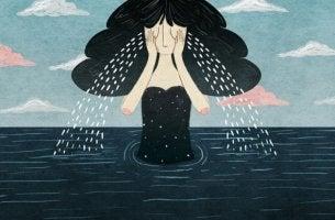 Mujer llorando una pérdida