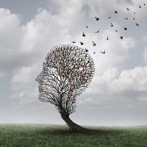 tree shaped like head