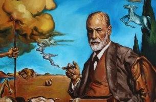Pintura representando los libros de Sigmund Freud más importantes