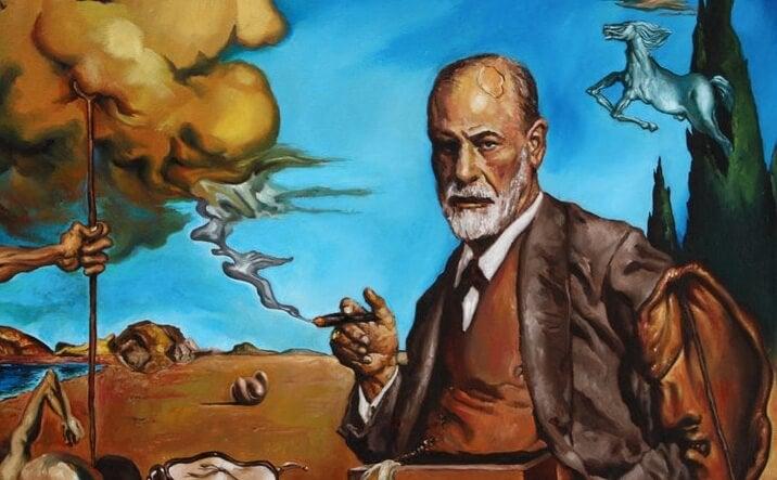Pintura de Sigmund Freud representando las teorías de Géza Róheim