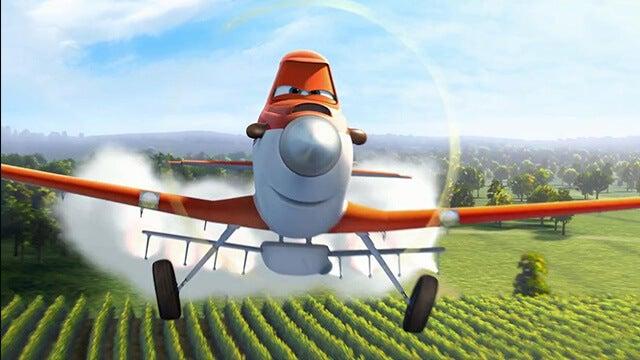 Dusty cuando era un avión fumigador