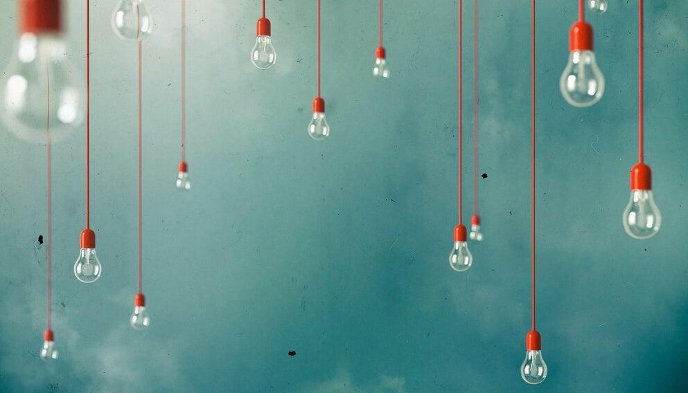 Bombillas representando la creatividad