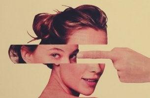 chica con el rostro fragmentado representando a las personas asertivas