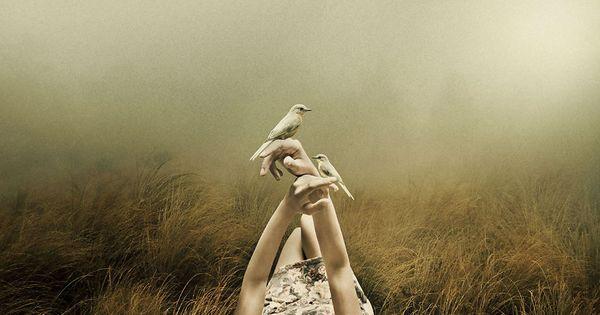 chica con palomas en las manos simbolizando el arte de percibir desde el corazón