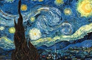cuadro noche estrellada de Van Gogh