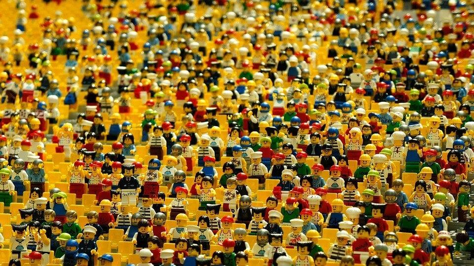 Legos de diferentes personajes