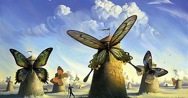 molinos mariposa representando la esperanza de volver a empezar