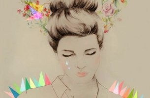 mujer triste llorando por un amor imposible