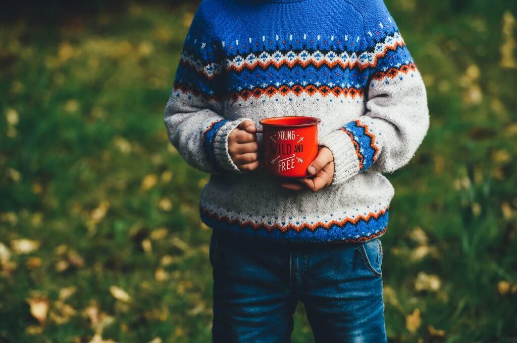 child with mug