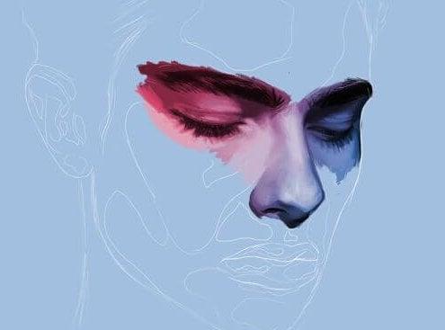 rostro masculino desdibujado simbolizando cuando no encuentras al amor de tu vida