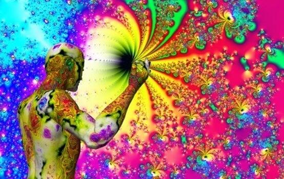 explosión de color representando la sinestesia que caracterizaba a Van Gogh