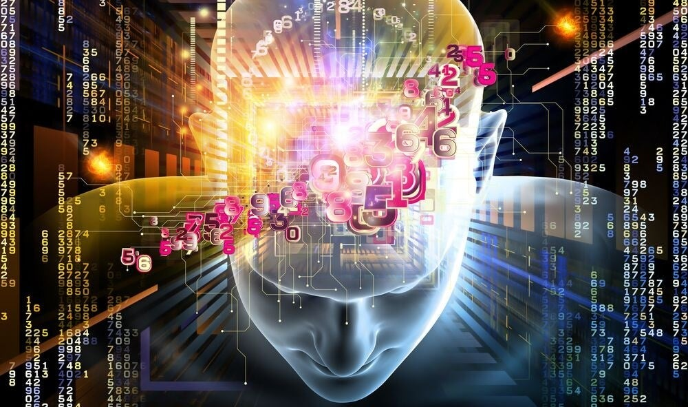 cabeza de la que salen números representando los enigmas del cerebro humano