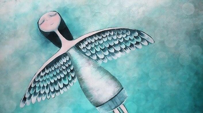 chica con alas necesidad de ser amados