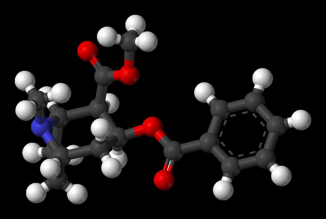 Fórmula química de la cocaína
