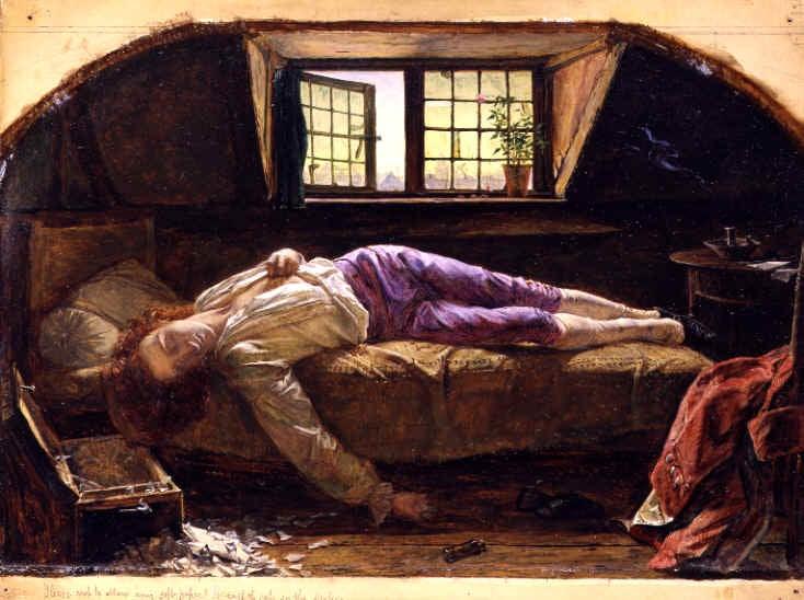 El cadaver del joven Werther sobre la cama