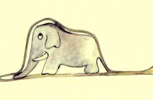 elefante dentro de una serpiente representando el Pensamiento divergente