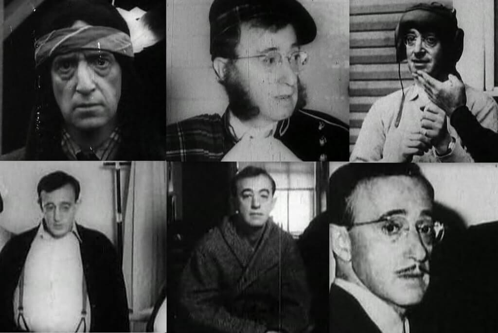 Escenas de la película zelig como ejemplo del efecto camaleón