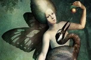 hombre dando fruto a un ave demostrando su falso altruismo