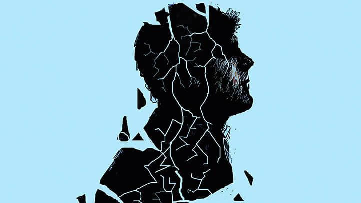 figura fragmentada representando el reto de los libros para superar la depresión