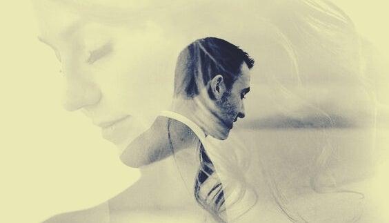 hombre y mujer en la fase previa a las tensiones en pareja