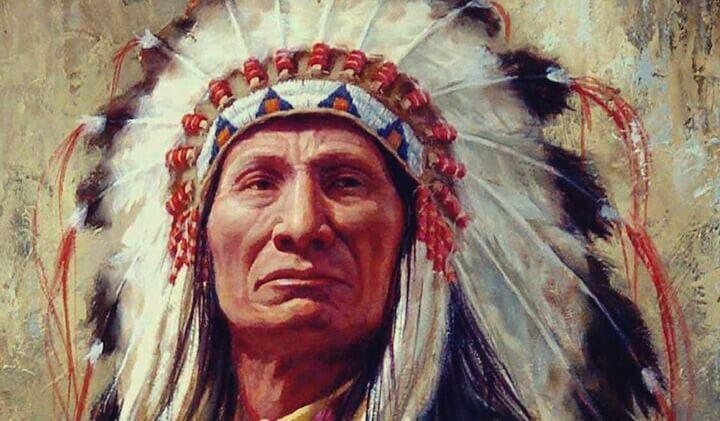 nativo representando los proverbios de los indios norteamericanos