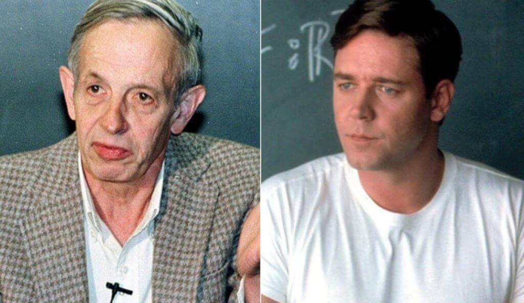 John Nash y Russell Crowe