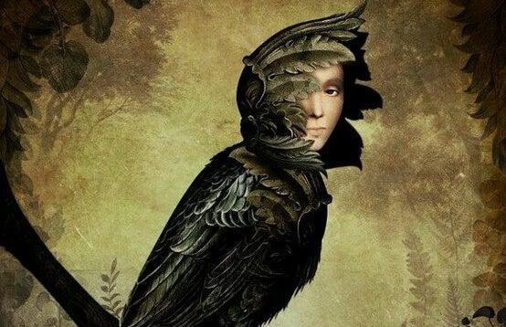 ave con rostro humano simbolizando el falso altruismi