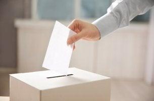 Persona metiendo su voto en una urna