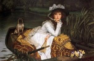Pintura de una mujer para representar el síndrome de Madame Bovary