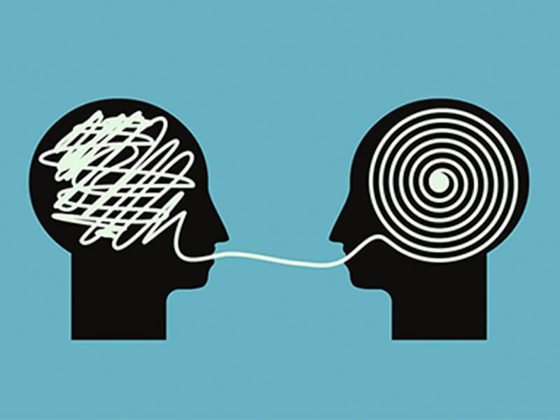 rostros conectados por hilos representando las técnicas de control emocional