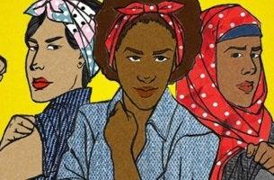 Tres mujeres en representación de los tipos de feminismos