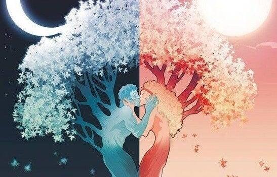 Árbol formado por una pareja