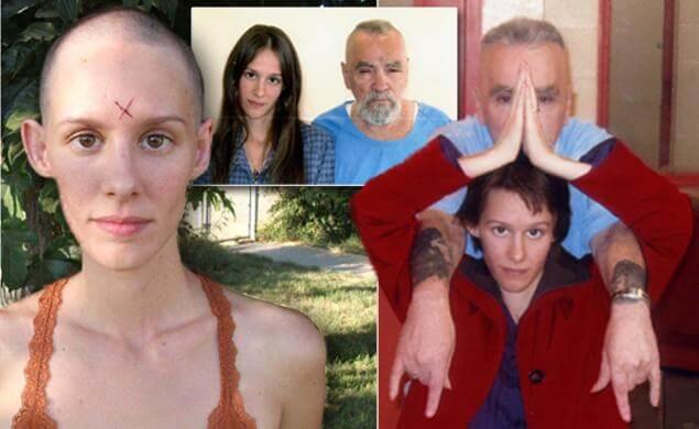 Charles Manson y su novia simbolizando a las mujeres que aman a psicópatas